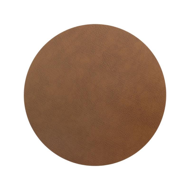 Circle Table Mat, XL, Bull Leather, Nature