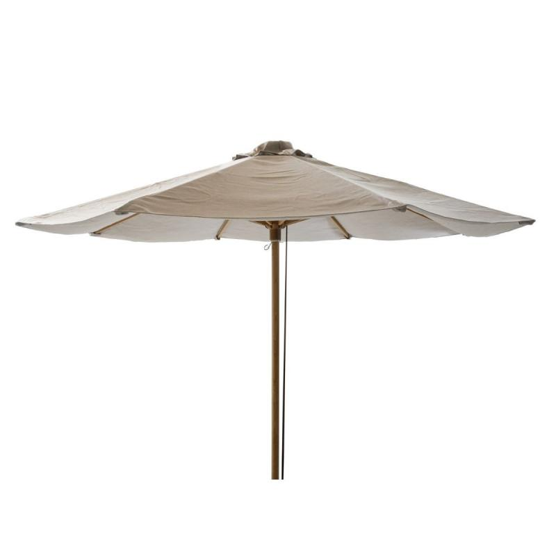 Classic Parasol With Pulley System, Ø300cm, Mud / Teak Frame