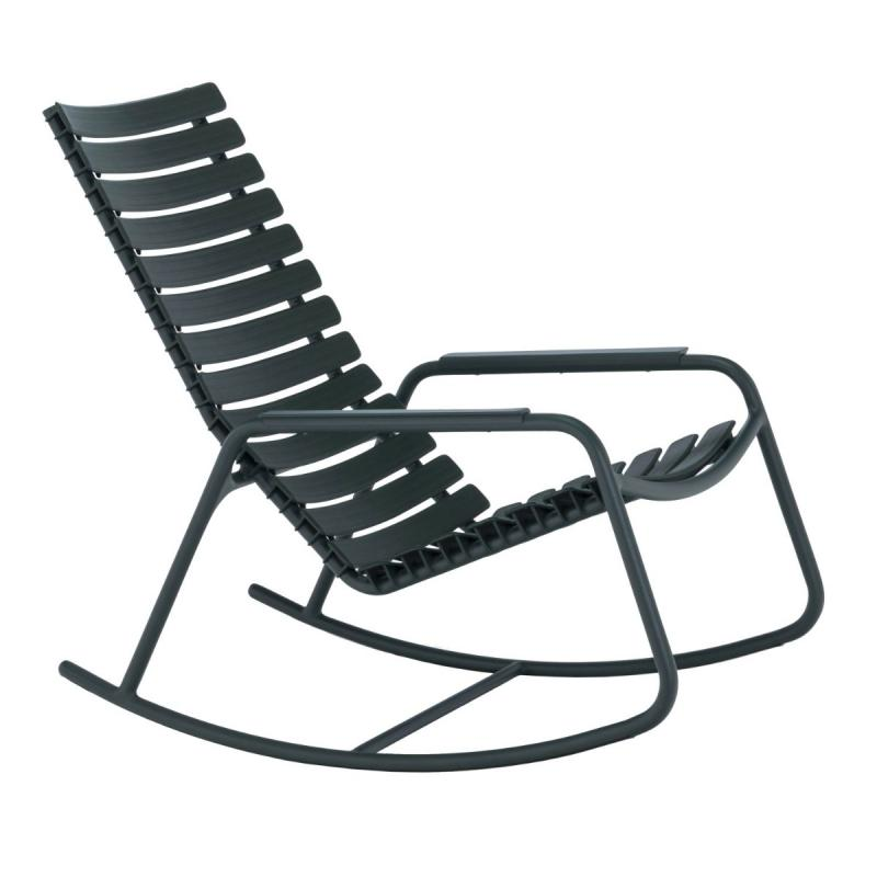 Clips Rocking Chair With Alumiunium Armrests, Mono Color