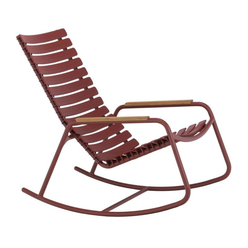 Clips Rocking Chair With Bamboo Armrests, Mono Color