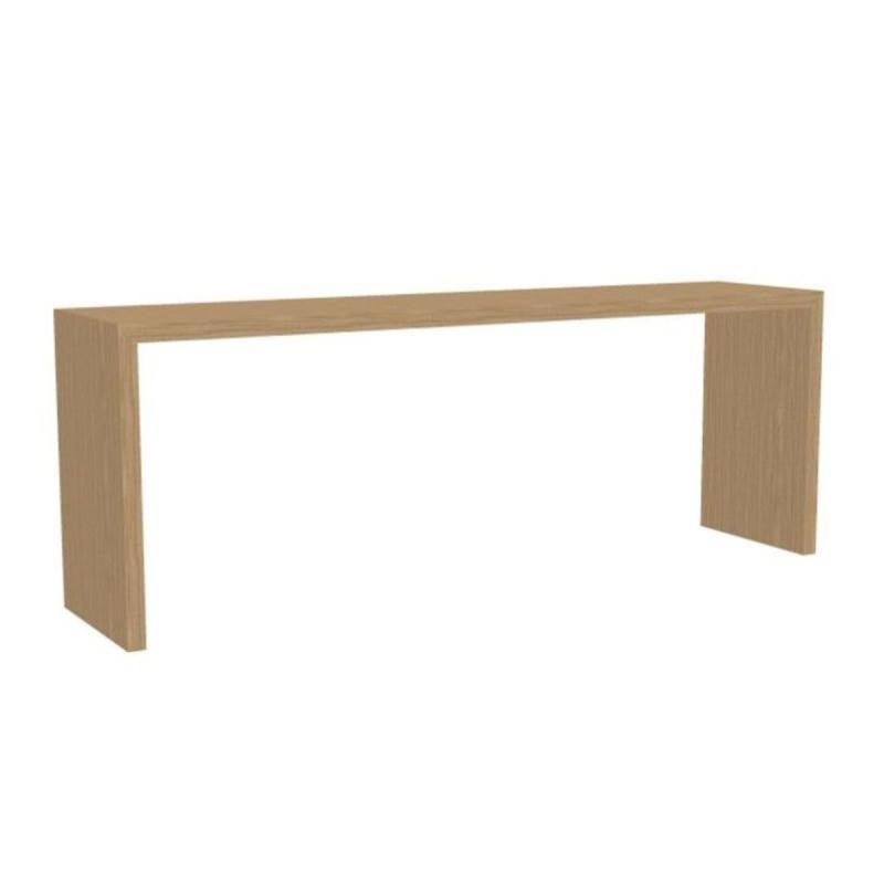 Closed High Table, 300x70cm, Oak
