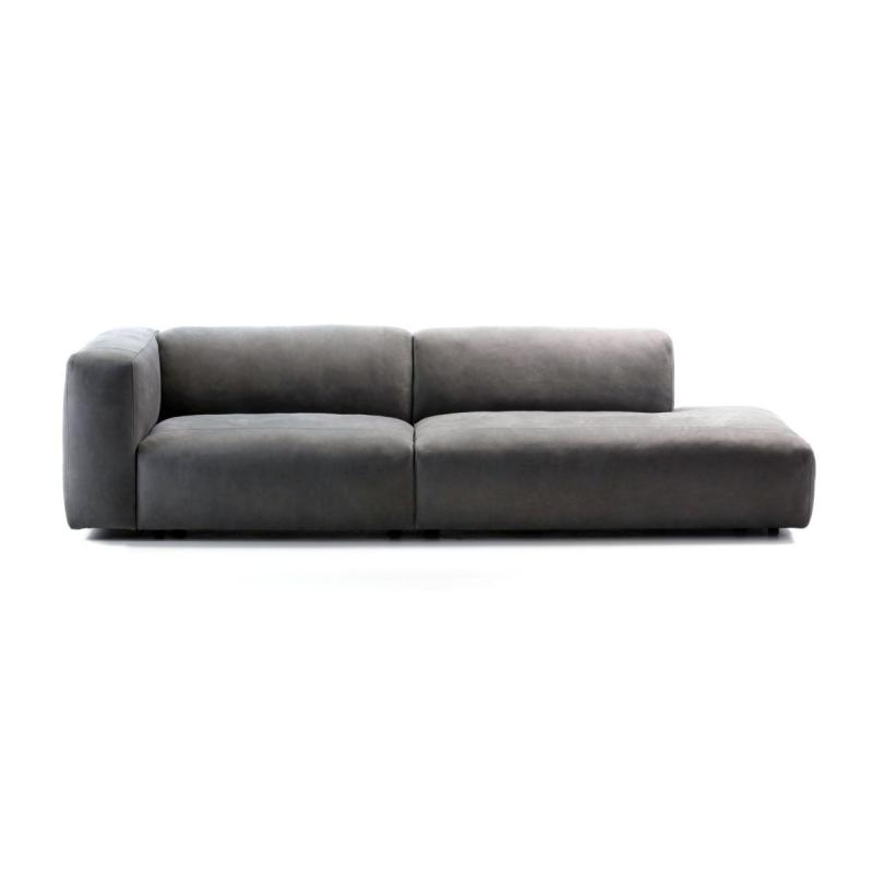 Cloud Modular Sofa, 2-Seater, Open Extended Configuration, Grey