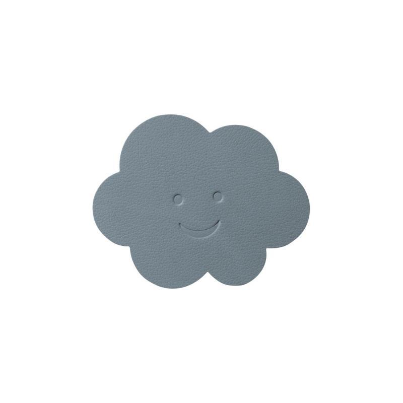 Cloud Glass Mat, Nupo Leather, Light Blue