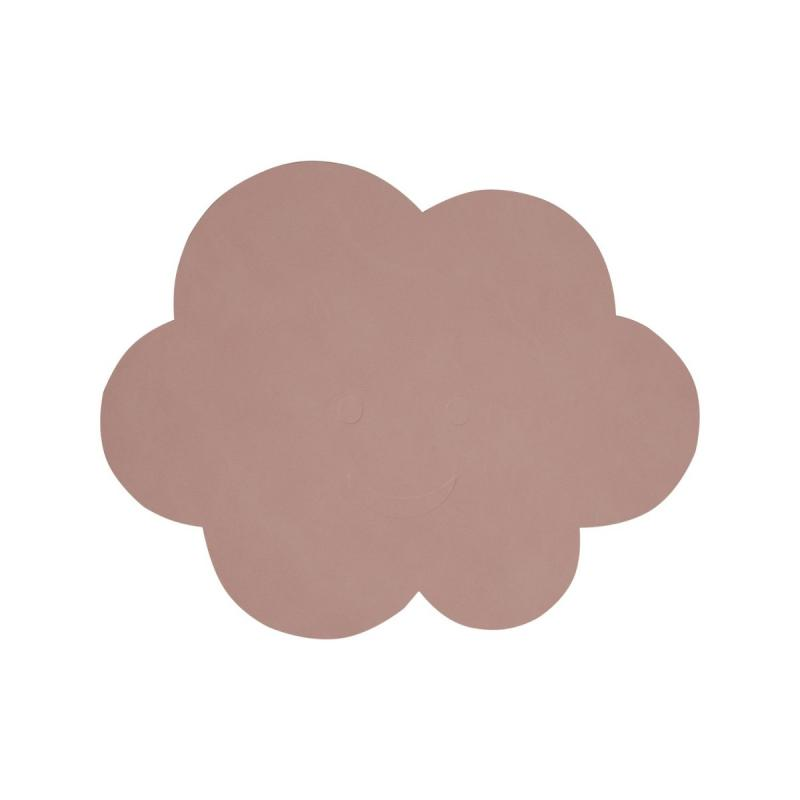 Cloud Table Mat, Nupo Leather, Rose