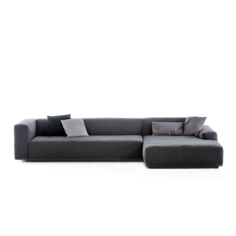 Cloud Modular Sofa, 2-Seater Module With Chaise Longue, Grey
