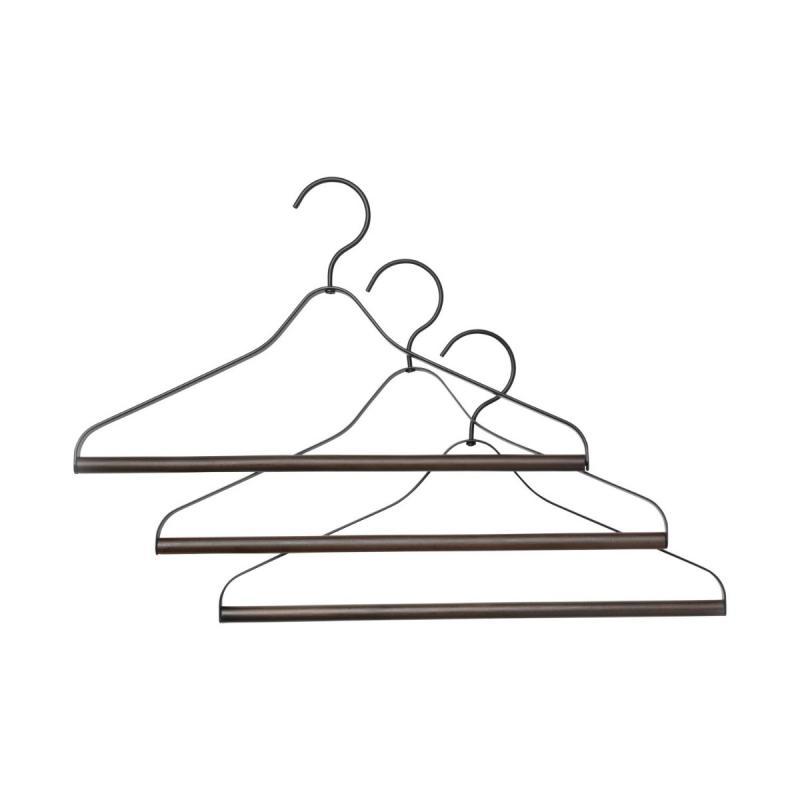 Coat Hanger, Set of 3, Black