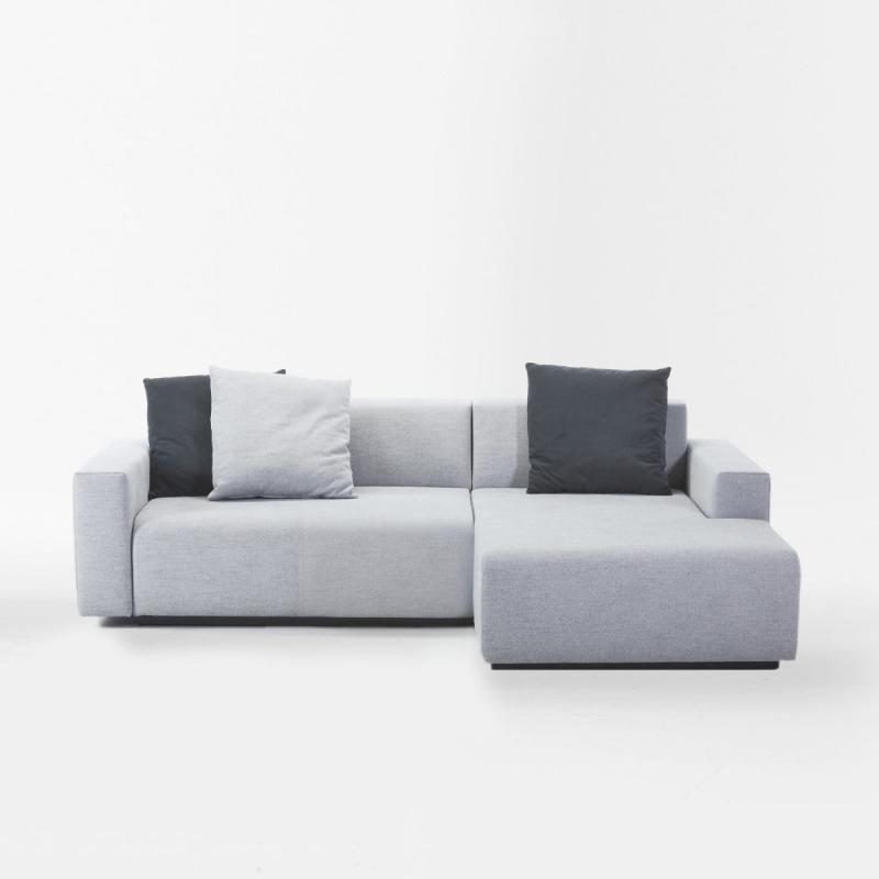 Combo Sofabed, 2-Seater Module With Chaise Longue, Grey