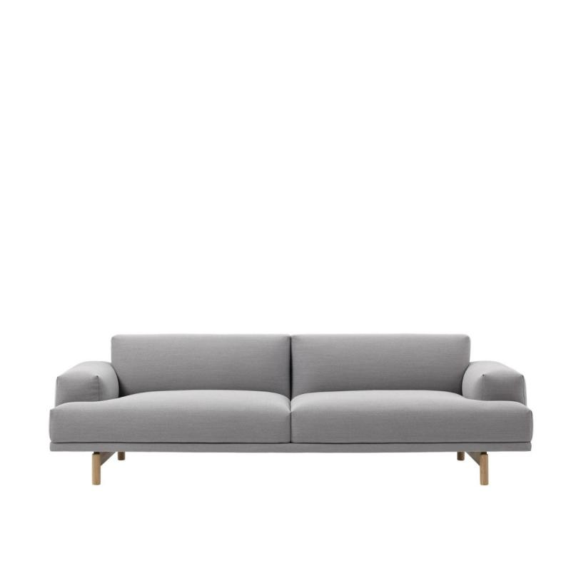 Compose Sofa, 3-seater, Light Grey