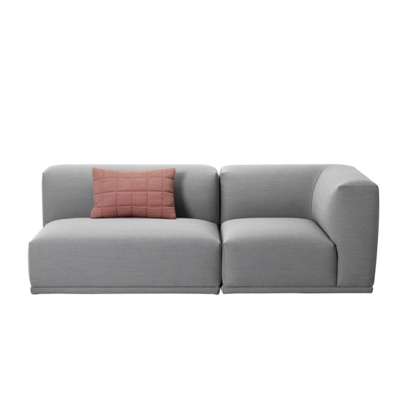 Connect Modular Sofa, 2-Seater Open Configuration, Light Grey