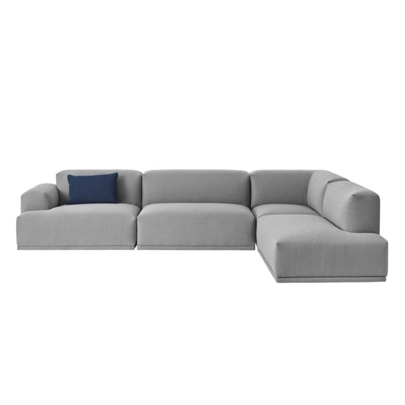 Connect Modular Sofa, Corner Configuration, Light Grey