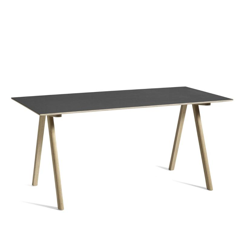 CPH 10 Desk, Black Linoleum Top / Oak Base