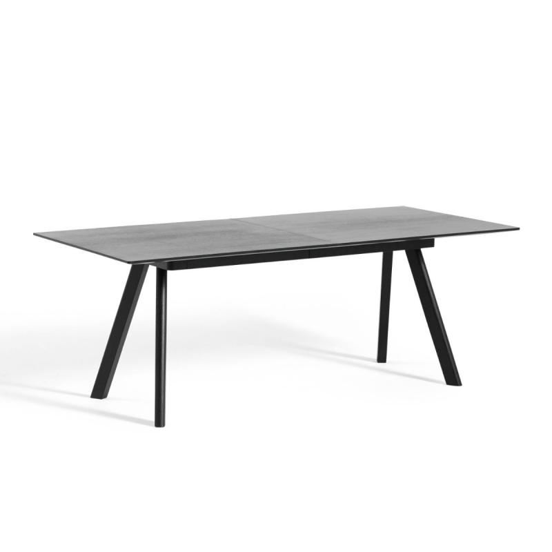 CPH 30 Extendable Table, 200/400x90x74cm, Black