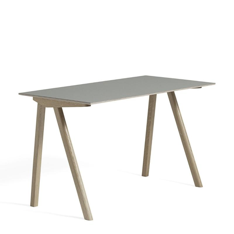 CPH 90 Desk, 130x65x74cm, Grey Linoleum Top / Oak Base