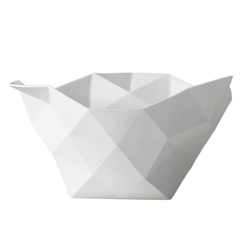 Crushed Bowl, L, White