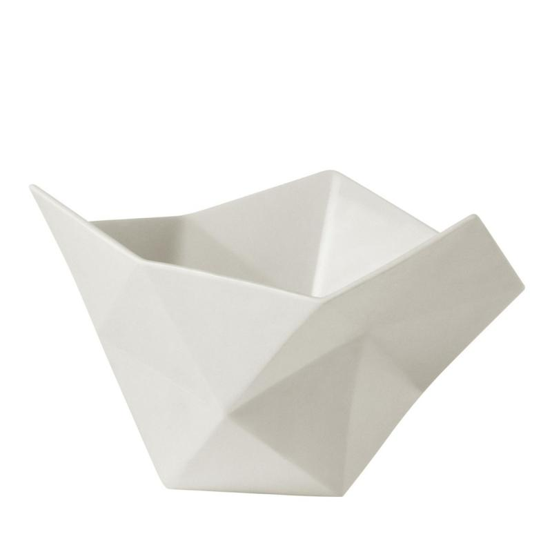 Crushed Bowl, S, White