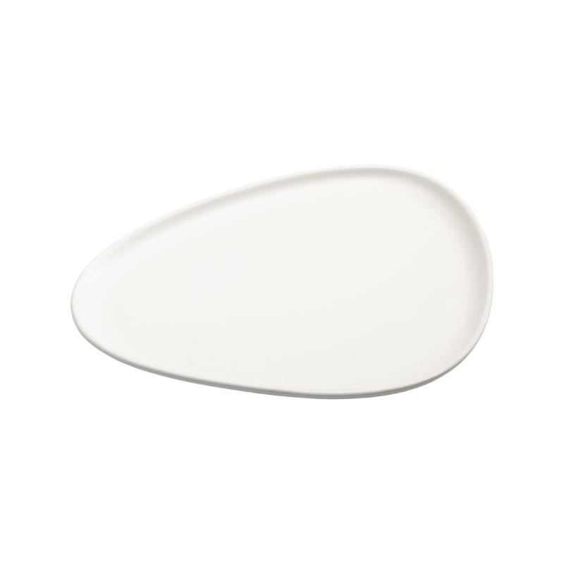 Curve Dinner Plate, Off-White