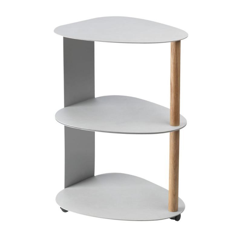 Curve Table Double L, Nupo Leather, Metallic / Metallic