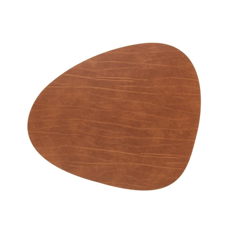 Curve Table Mat, L, Buffalo Leather, Nature