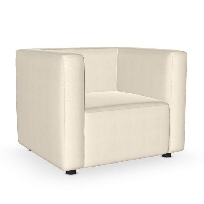 Dado Lounge Chair, White Upholstery