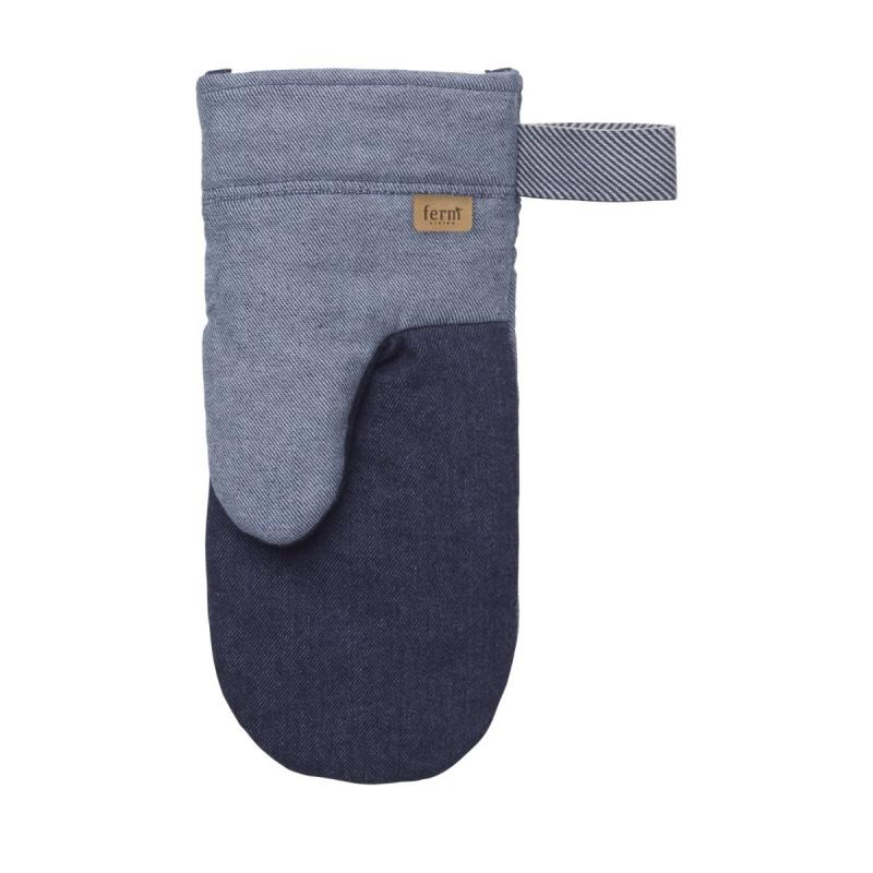 Denim Oven Mitt, Blue