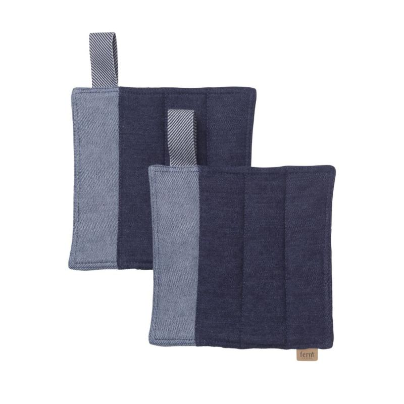 Denim Pot Holders, Set of 2, Blue