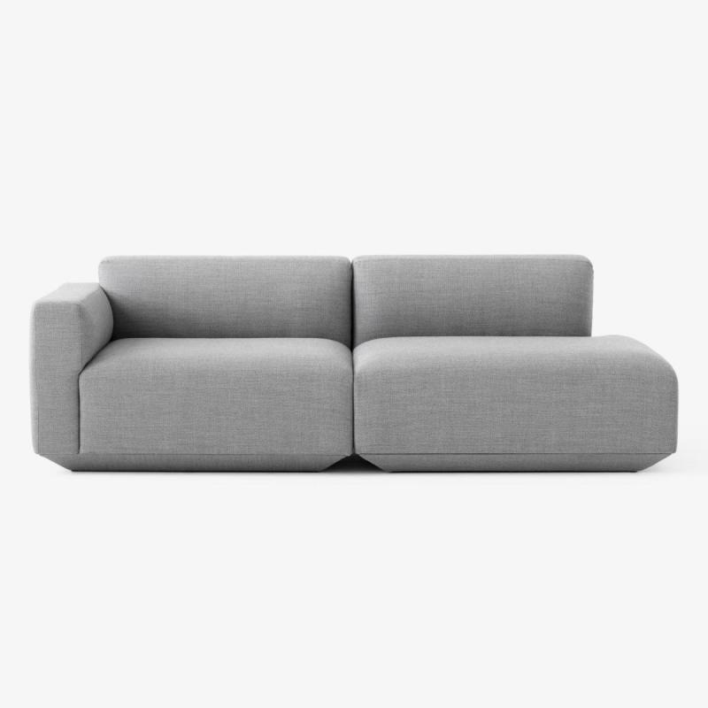 Develius Sofa, 2-Seater, Configuration G, Grey