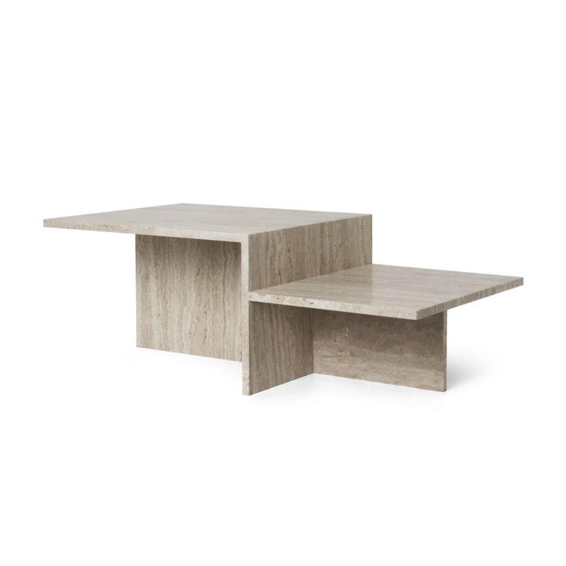 Distinct Coffee Table, Travertine