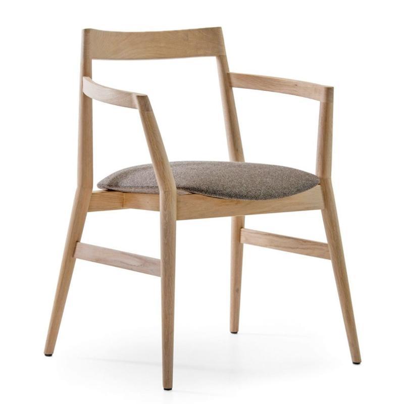 Dobra Chair, Light Grey Seat / Black Frame