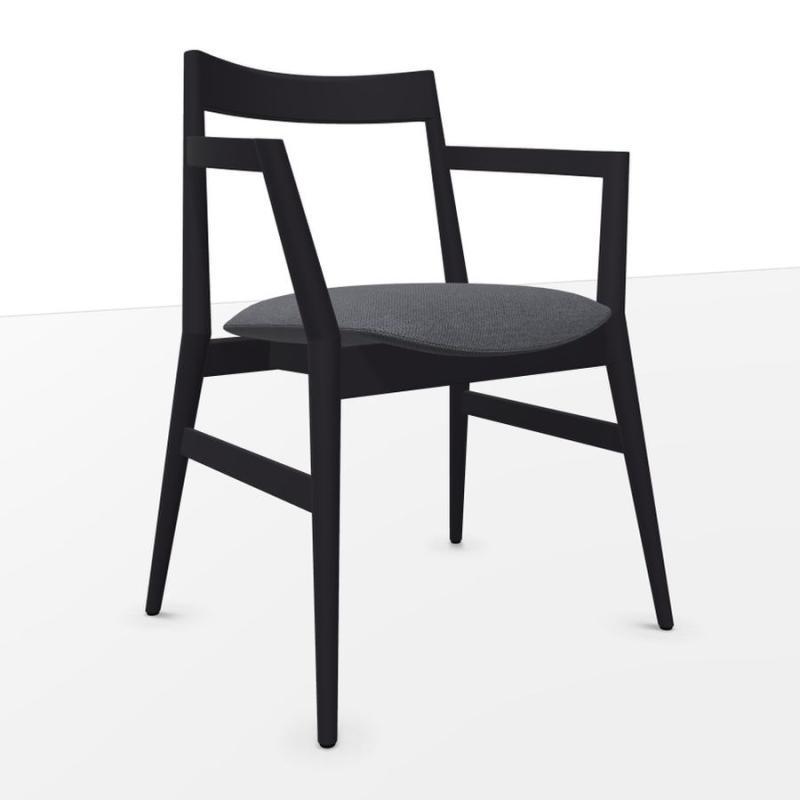 Dobra Chair, Grey Seat / Black Frame