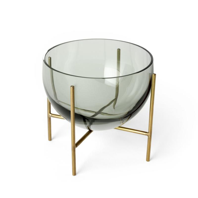 Echasse Bowl, S, Smoke/Brushed Brass