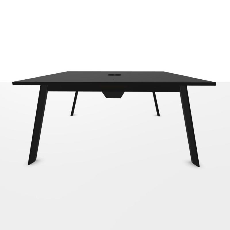 ECO Bench Table, 180x160cm, Black Laminate Top / Black Base