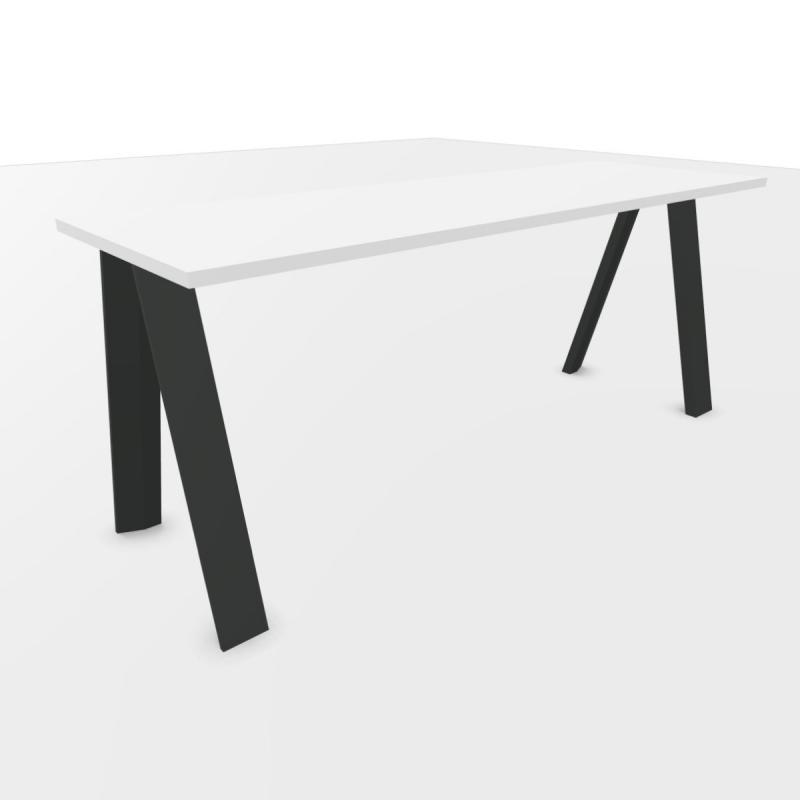 ECO Desk, 180x60cm, White Laminate Top / Anthracite Base