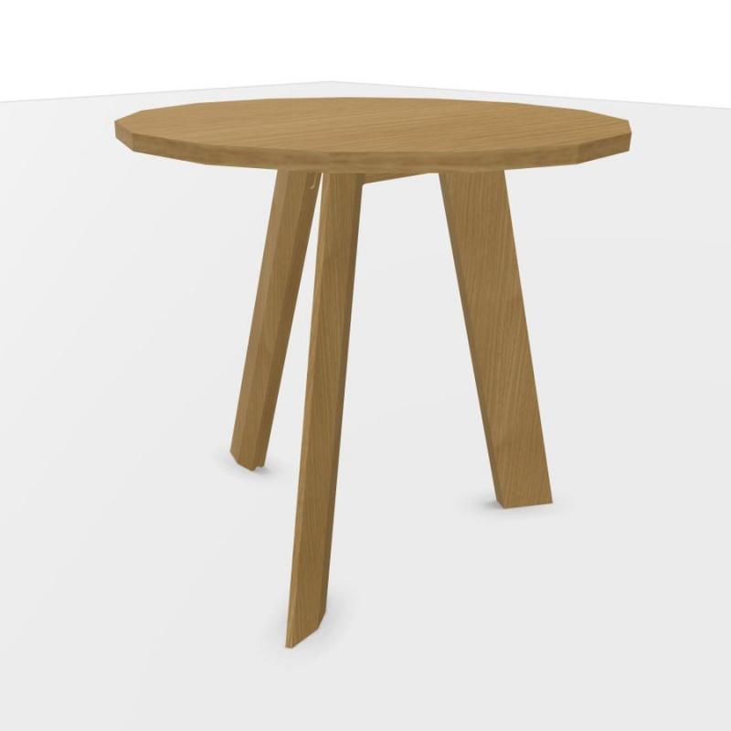 ECO Meeting Table, Ø80cm, Oak Top / Oak Base