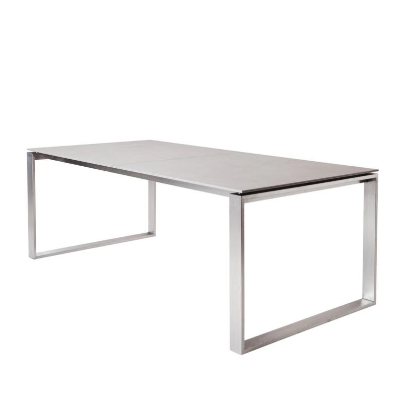Edge Extendable Table, Stainless Steel Base