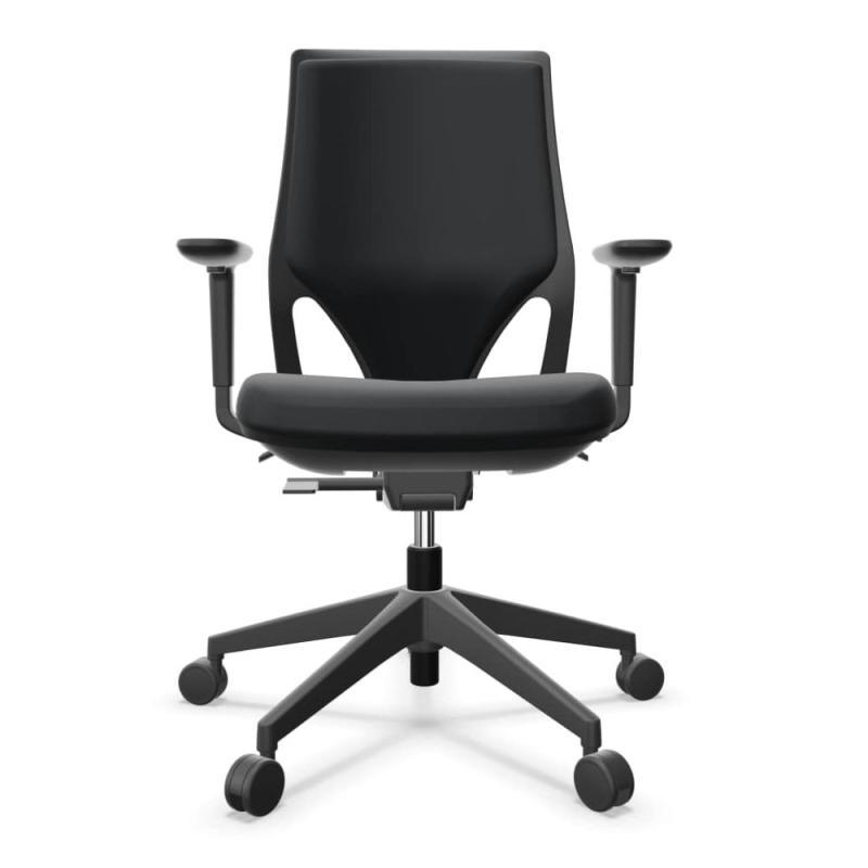 Efit Task Chair, High Back, Black Upholstered Back & Seat / Black Base