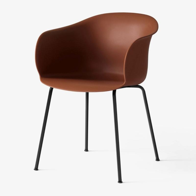 Elefy Chair JH28, Copper Brown Seat / Black Tube Base