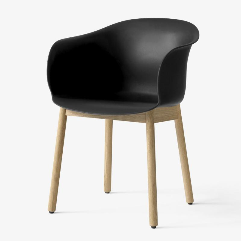 Elefy Chair JH30, Black Seat / Oak Base