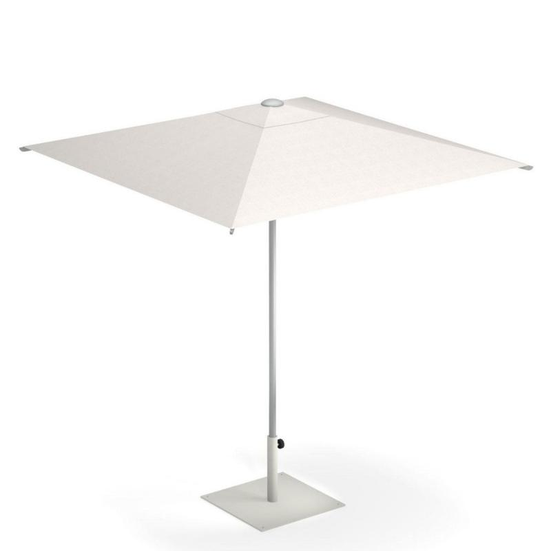 Shade Parasol, 2x2m, White, With Central Pole, With Cover