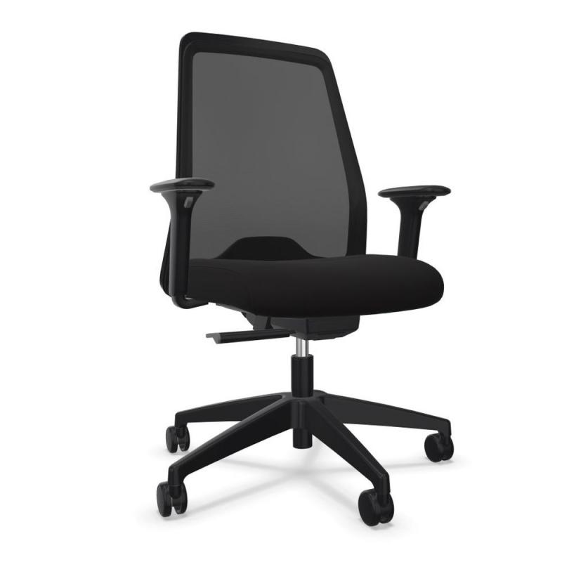 EVERYis1 EV256 Office Chair, Mesh Backrest / Black Seat / Black Frame