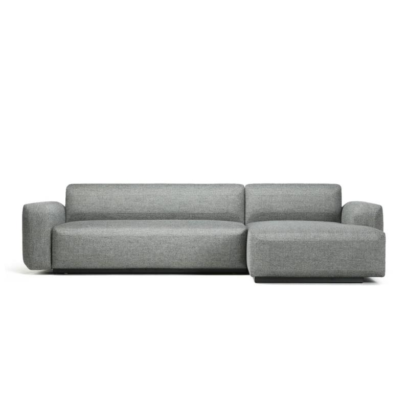 Fade Sofabed, 2-Seater Module With Chaise Longue, Grey