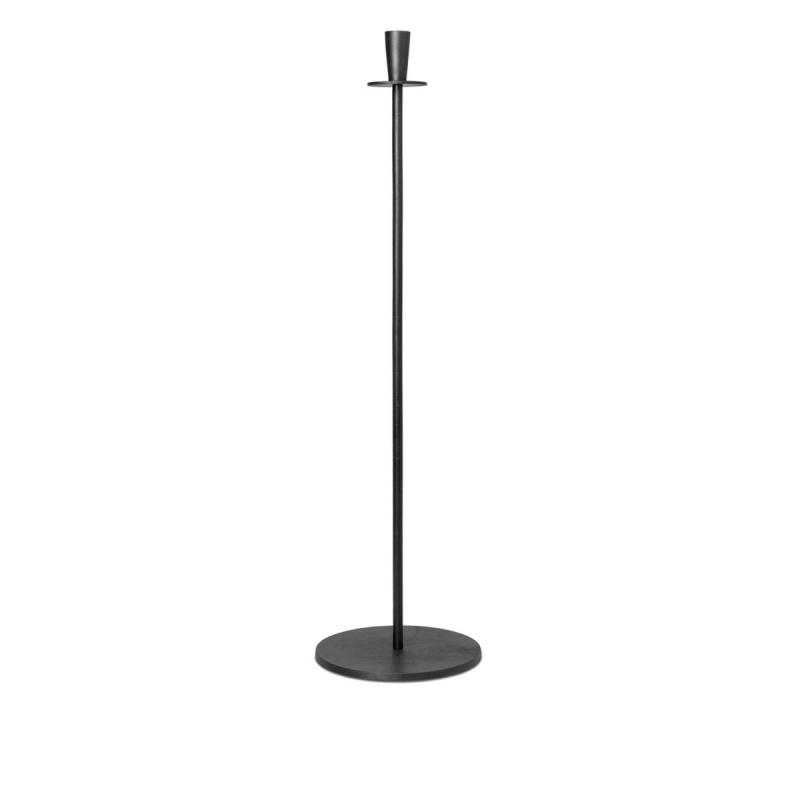 Hoy Casted Candle Holder, Tall, Black