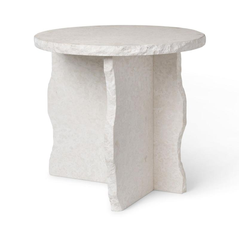 Mineral Sculptural Table, Bianco Curia