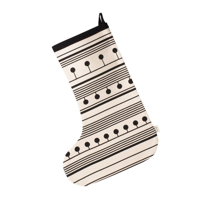 Winterland Christmas Stocking, Black