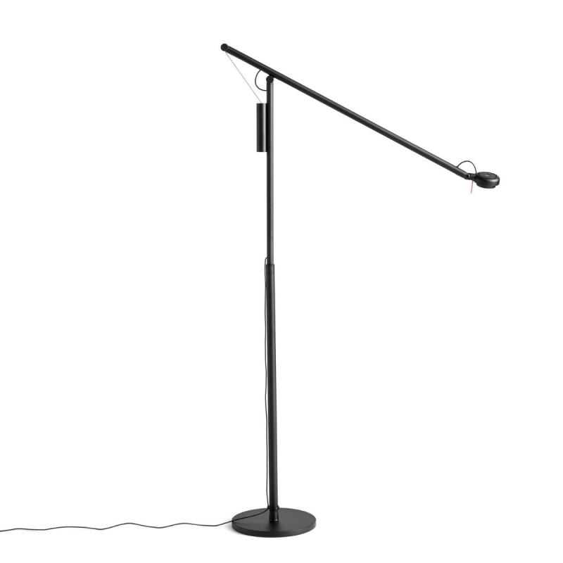 Fifty-Fifty Floor Lamp, Soft Black
