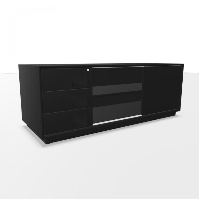 Mahia Fixed Sideboard, 160x60x59.5cm, 3 Drawers