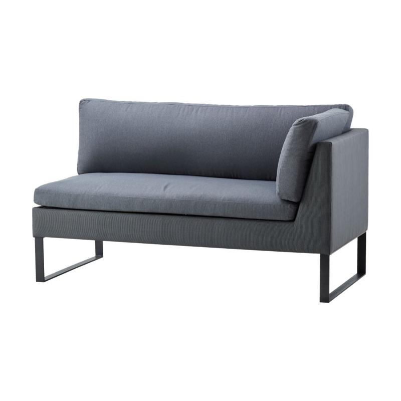 Flex 2-Seater Sofa Left Module With Cushions, Grey