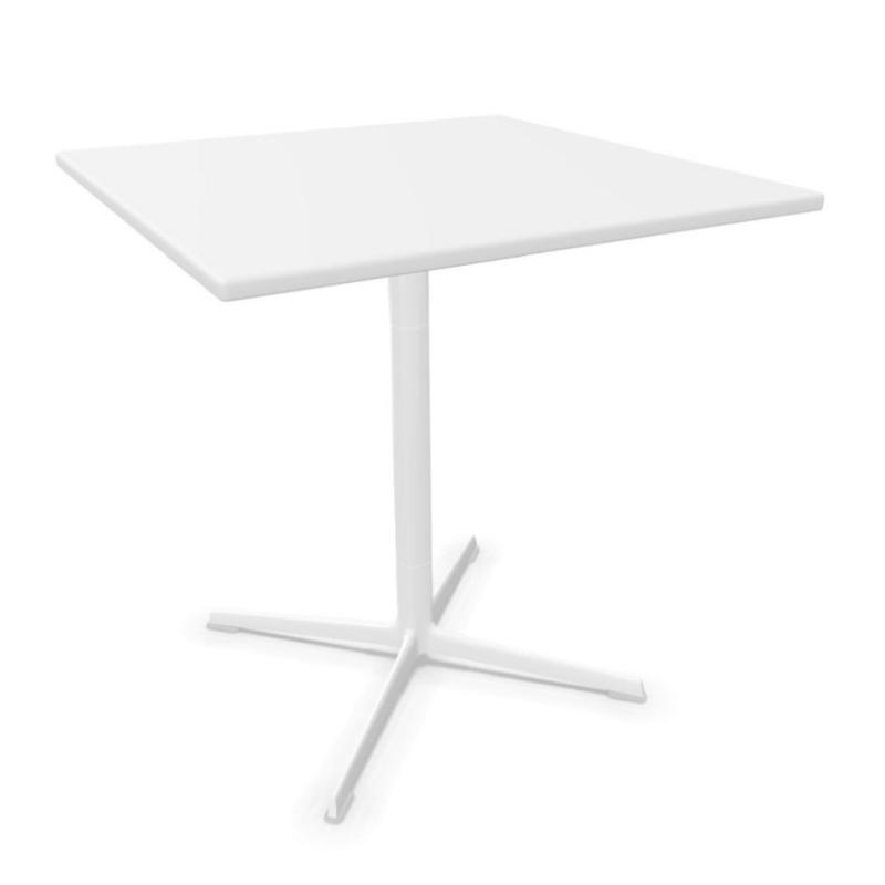 Fred Table, 70x70cm, White MDF Top / White Base