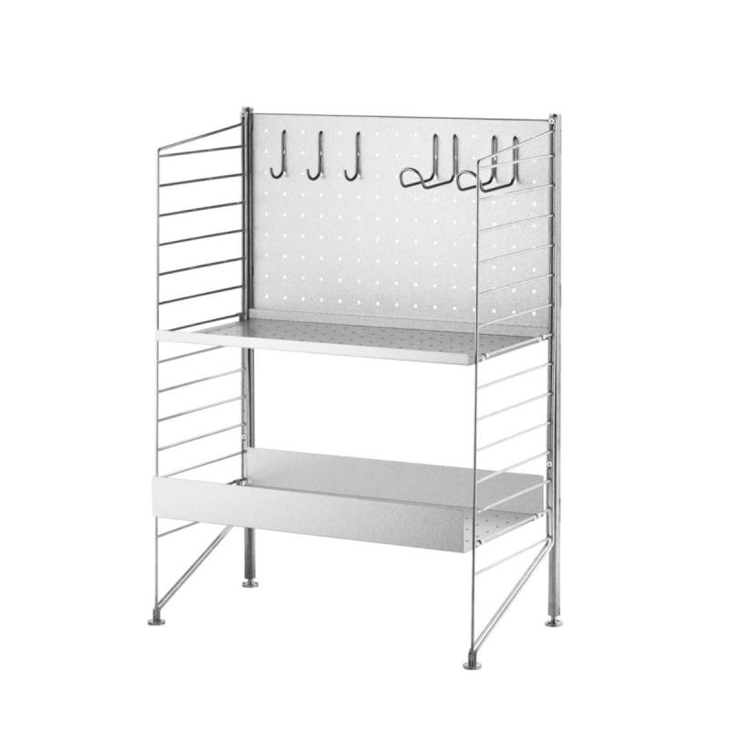 Free Standing Shelf, Galvanized