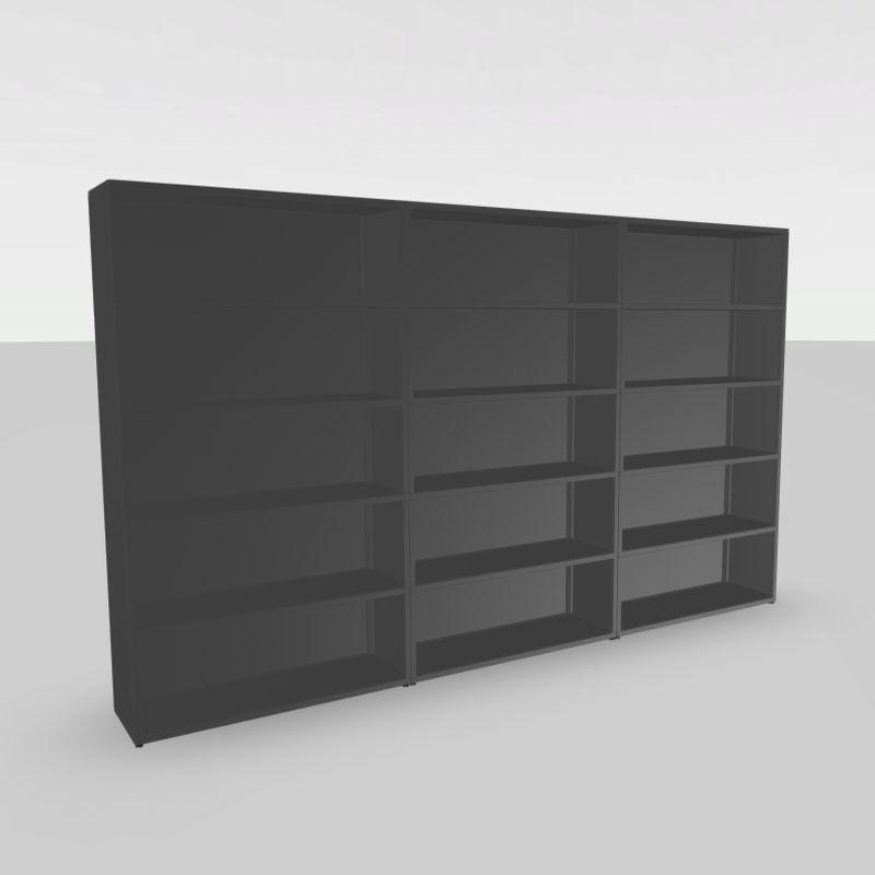 New Order Shelf, 300x180cm, With Back and Side Panels, Charcoal