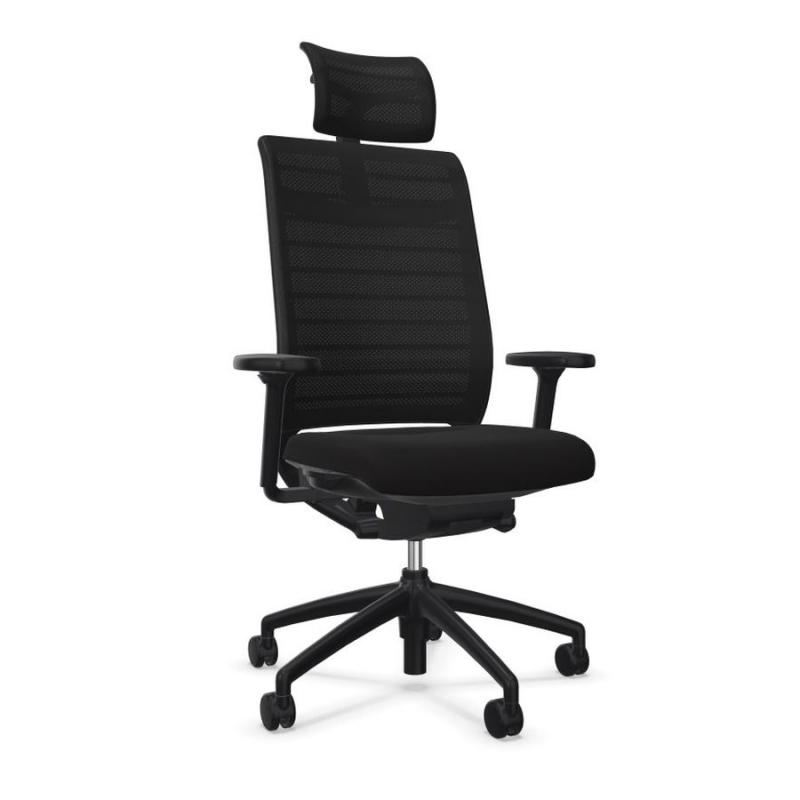 Hero 275H Office Chair With Headrest, Mesh Backrest / Black Seat / Black Frame